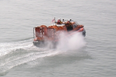 Hovercraft at speed
